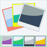 Photo Frames Flat Style. Vector Illustration. This is file of EPS10 format Stock Photography