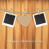 Photo frames and heart Royalty Free Stock Images
