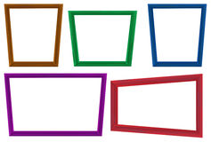 Photo frames. Illustration of many color photo frames Royalty Free Stock Image