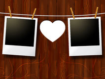 Photo Frames Indicates Valentine's Day And Heart Royalty Free Stock Photography