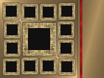Photo Frames on Metal Background Royalty Free Stock Photography