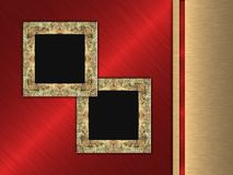 Photo Frames on Metal Background Royalty Free Stock Photo