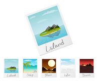 Photo frames with nature landscapes. Set 1 Royalty Free Stock Images