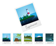 Photo frames with nature landscapes. Set 2 Stock Photography