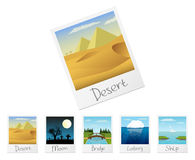 Photo frames with nature landscapes. Set 3 Royalty Free Stock Image
