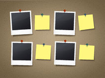Photo frames and note papers Stock Photo