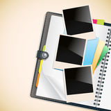 Photo frames and notepad sheets on Stock Photos