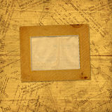 Photo frames on old paper envelopes Royalty Free Stock Photos