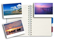 Photo Frames On Note Pad Stock Photos