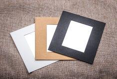 Photo frames. Paper retro canvas royalty free stock photo