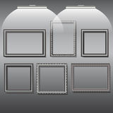 Photo frames and pictures silver Royalty Free Stock Images