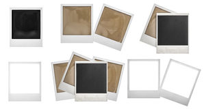 Photo frames polaroid . Photo scrapbook Royalty Free Stock Photo