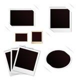 Photo frames polaroid vintage set. 10 eps Royalty Free Stock Image