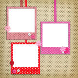 Photo frames with polka dot patterns Royalty Free Stock Photos