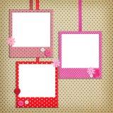Photo frames with polka dot patterns Royalty Free Stock Photos