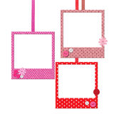 Photo frames with polka dot patterns Stock Photography
