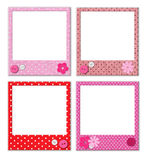 Photo frames with polka dot patterns Royalty Free Stock Image