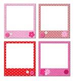 Photo frames with polka dot patterns Royalty Free Stock Image