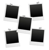 Photo frames and pushpin. The image was made by Adobe Illustrator Royalty Free Stock Image