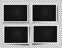 Photo frames realistic photo templates Stock Photo