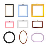 Photo Frames Rectangle Oval and Square Set. Vector Royalty Free Stock Photos
