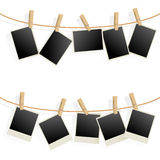 Photo Frames on Rope Stock Photography