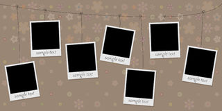Photo Frames On Rope Royalty Free Stock Photo