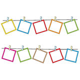 Photo frames on rope. Doodle sketch, vector Royalty Free Stock Photography