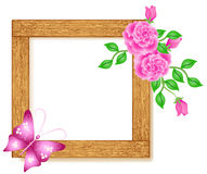Photo frames with roses Stock Images