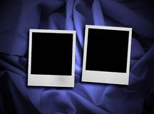Photo frames on satin Royalty Free Stock Photo