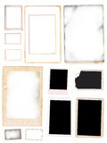 Photo Frames Scanned from Original Old photos Royalty Free Stock Image
