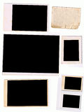 Photo Frames Scanned from Original Old photos Stock Photography
