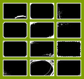 Photo Frames set. 12 Various photo frames for different occasions. Isolated on green background Royalty Free Stock Image