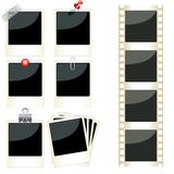 Photo frames set. Vector instant photo frames set Royalty Free Stock Image