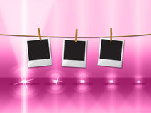 Photo Frames Shows Beam Of Light And Copy Stock Image