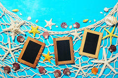 Photo frames and starfish Royalty Free Stock Photos