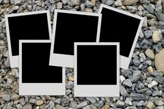 Photo frames on stones background Royalty Free Stock Images