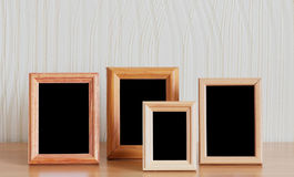 Photo frames on table Stock Photo