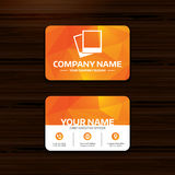 Photo frames template icon. Empty photography. Royalty Free Stock Image