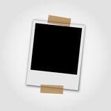 Photo frames on white background. Blank photo frames on white background Royalty Free Stock Images