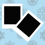 Photo Frames on Winter christmas Stock Images