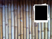 Photo Frames on Wood background. The bamboo background Royalty Free Stock Photo