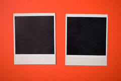 Photo of a framework. On an orange background Royalty Free Stock Images