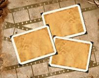 Photo frameworks,  filmstrip Stock Photos