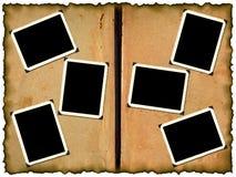 Photo frameworks on old album Royalty Free Stock Images