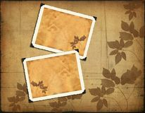 Photo frameworks on vintage background Stock Photo