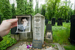 Photo of the Franz Kafka past the writers grave royalty free stock images