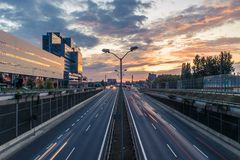 Photo of Freeway and Buildings Royalty Free Stock Image