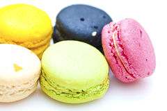 Photo of French dessert, colorful macarons. Royalty Free Stock Photography