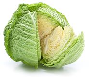 Photo of fresh cabbage. Royalty Free Stock Images